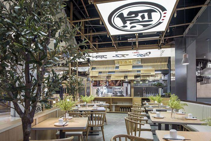 商场餐饮装修怎么设计比较有创意?商场内特色休闲餐厅门面店面整体设计
